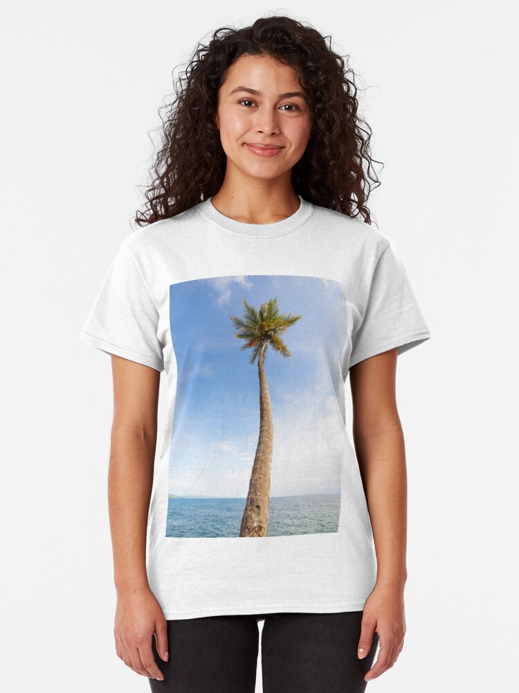 Alternate view of Tall palm tree against sky Classic T-Shirt