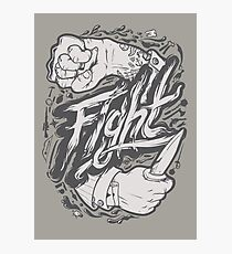 Fight Photographic Print