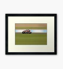 Motorcycle Racing Framed Print