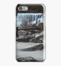 End of Fall waterfall photograph iPhone Case/Skin