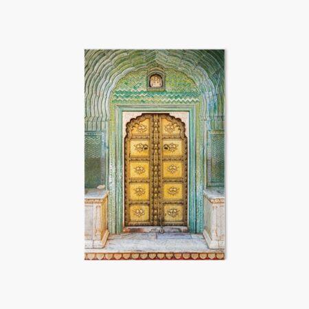 City Palace Door Art Board Print