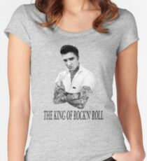 Elvis Presley Tattoo Rockabilly Vintage Women's Fitted Scoop T-Shirt