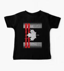Kanada-Tag - Kanada-Flaggen-Ski-Skifahren Baby T-Shirt