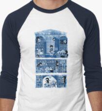 Silence in the Library Men's Baseball ¾ T-Shirt