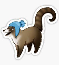 Coati Hat Sticker