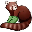 Red Panda Mittens by Janis Neville