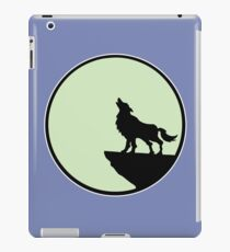 loup wolf moon  iPad Case/Skin