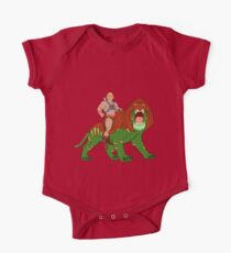He-man and BattleCat Filmation Style One Piece - Short Sleeve