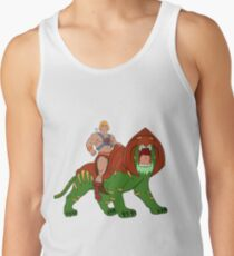 He-man and BattleCat Filmation Style Men's Tank Top