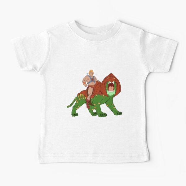 He-man and Tiger Tribute Baby T-Shirt