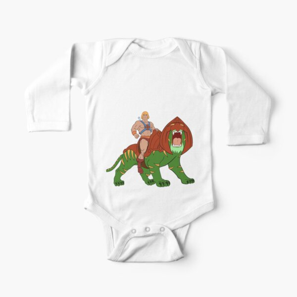 He-man and Tiger Tribute Long Sleeve Baby One-Piece