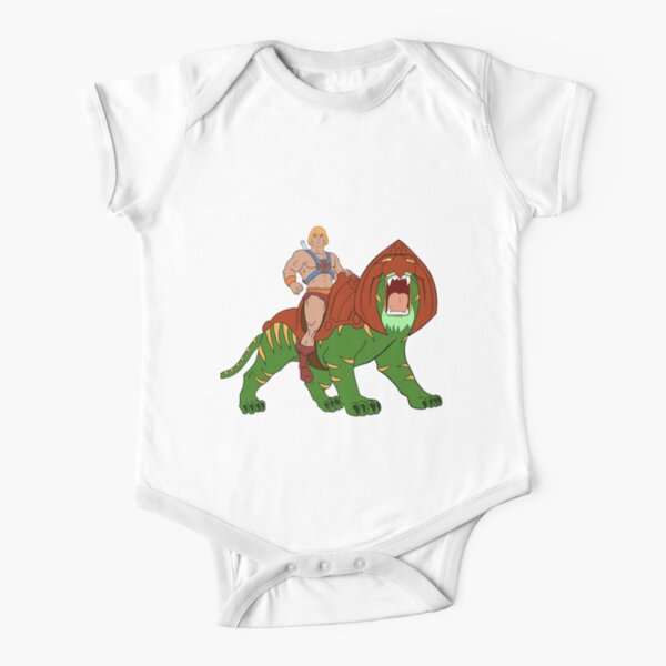 He-man and Tiger Tribute Short Sleeve Baby One-Piece