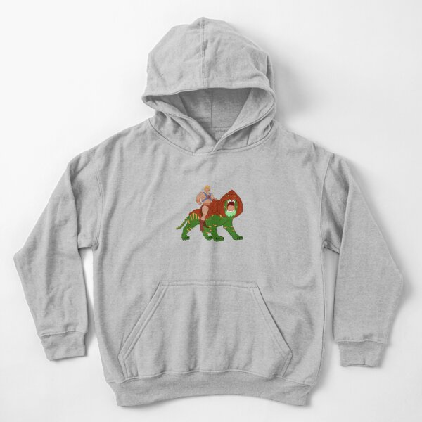 He-man and Tiger Tribute Kids Pullover Hoodie