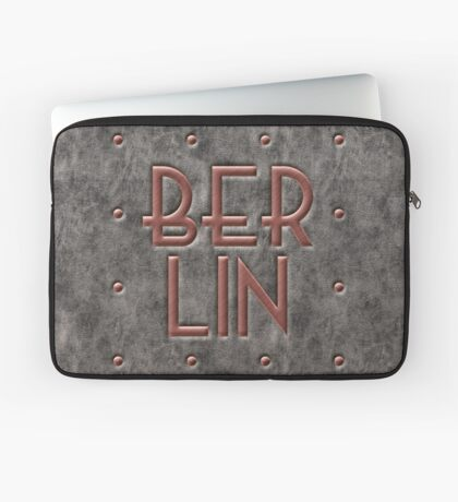 Berlin, leather and metal Laptop Sleeve