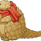 Scarf Pangolin by Janis Neville