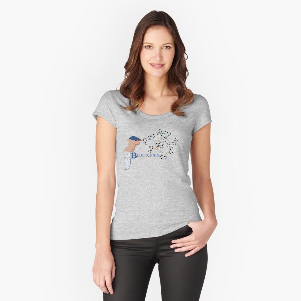 Krypto Tailliertes Rundhals-Shirt