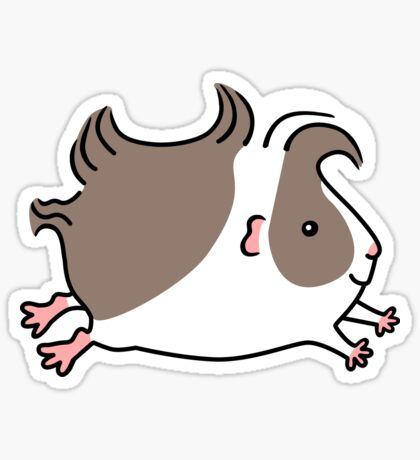 Leaping Guinea-pig ... Grey and White Sticker