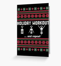 Funny Fitness Stickers - Christmas Workout T-shirts Greeting Card