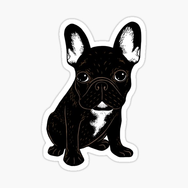 Brindle French Bulldog  Sticker