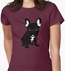 Brindle French Bulldog  Womens Fitted T-Shirt