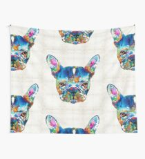 Colorful French Bulldog Dog Art By Sharon Cummings Wall Tapestry
