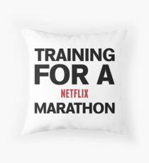 Training for a Marathon Throw Pillow