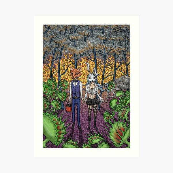 Burning Forest Art Print