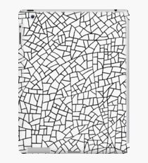 Craquelure Pattern - Black on White iPad Case/Skin