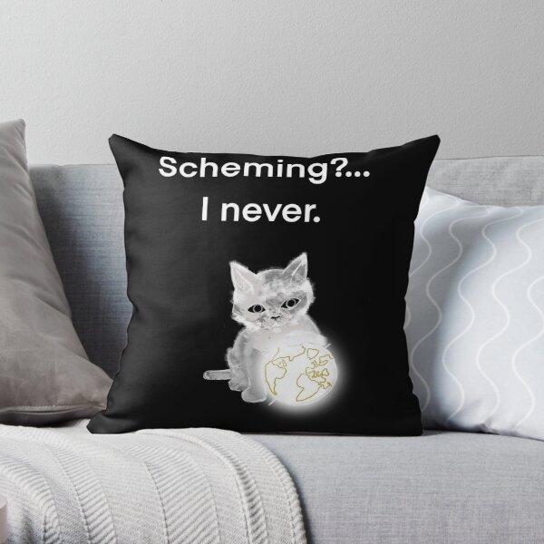 Scheming Throw Pillow