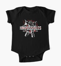 The Impossibles Logo w/ Robot - White and Red One Piece - Short Sleeve