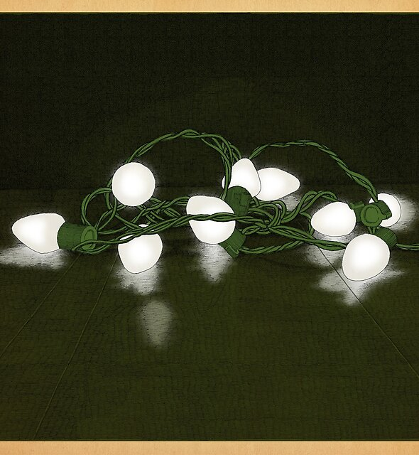 Lights in white satin by MegsWhimsy