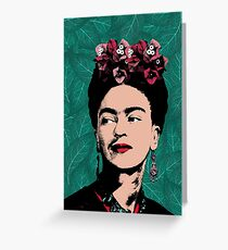 Frida Kahlo, Artist, Celebrity Portrait Greeting Card