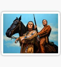 Winnetou and Old Shatterhand Painting Sticker