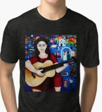 "Violeta Parra  and the song ""Black wedding"" Tri-blend T-Shirt"