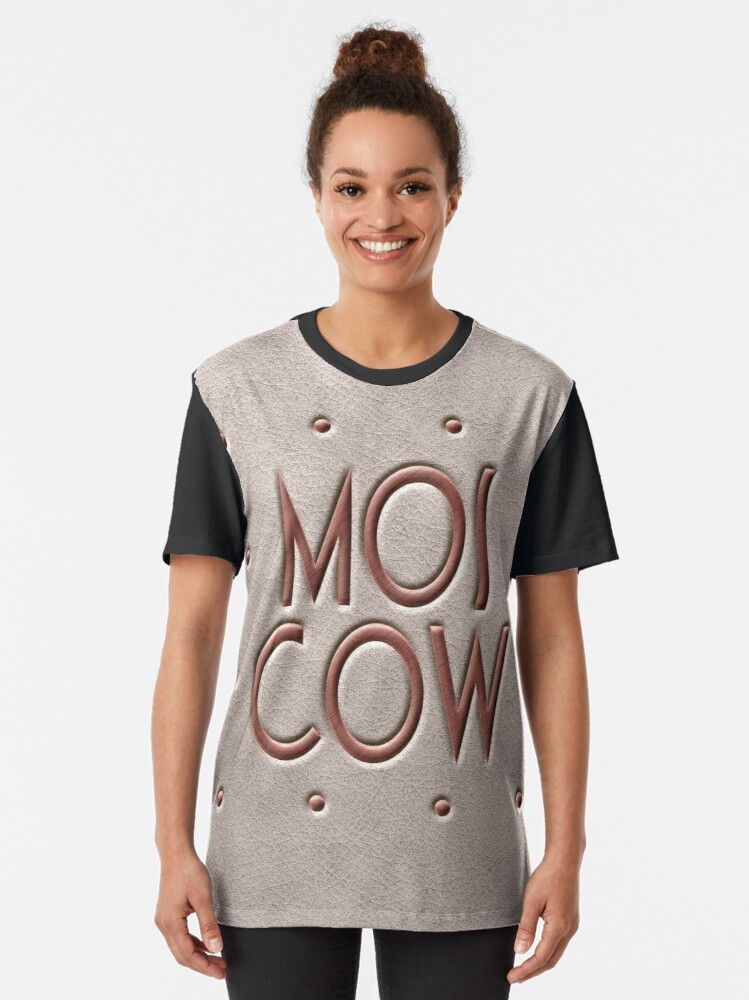Alternate view of Moscow, leather and metal Graphic T-Shirt