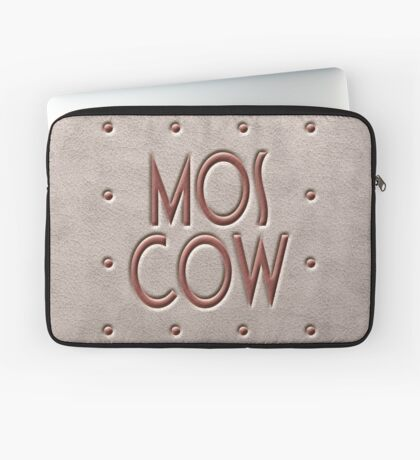 Moscow, leather and metal Laptop Sleeve
