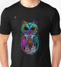 Colorful Mandala Ornament Owl Artwork T-Shirt by Cyrca Originals T-Shirt
