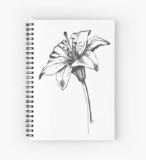 White Lilly Artist Sketch Spiral Notebook