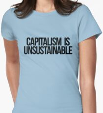 Capitalism is Unsustainable Womens Fitted T-Shirt