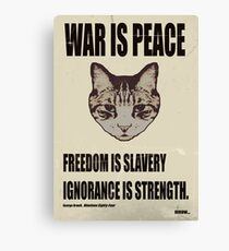 Orwellian Cat Says War Is Peace Canvas Print