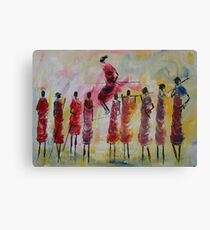 Masai Jumping Canvas Print