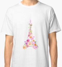 Floral Eiffel Tower Classic T-Shirt