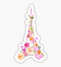 Floral Eiffel Tower Sticker