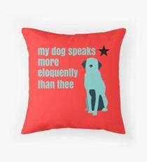 Hamilton Farmer Refuted Dog Quote Throw Pillow