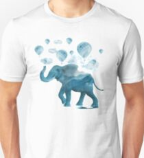Magical Blue Elephant Unisex T-Shirt