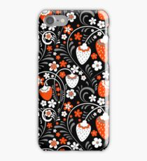 Ornament in Khokhloma Russian style iPhone Case/Skin