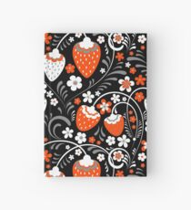 Ornament in Khokhloma Russian style Hardcover Journal