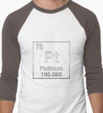Periodic Table of Elements - Platinum - Pt - Platinum on Black T-Shirt