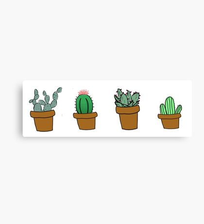 cactus hipster drawing Canvas Print