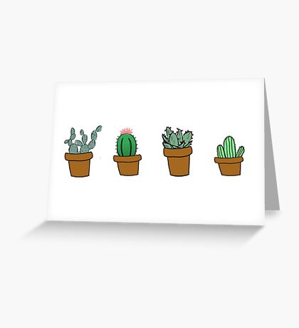cactus hipster drawing Greeting Card